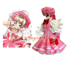 New Arrival Japan Anime Cardcaptor Sakura Dress Cosplay Costume Lolita Dress Size