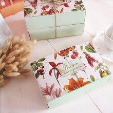 Зеленый цветок украшение хлебобулочная посылка коробка печенье на десерт подарочные коробки вечерние подарки