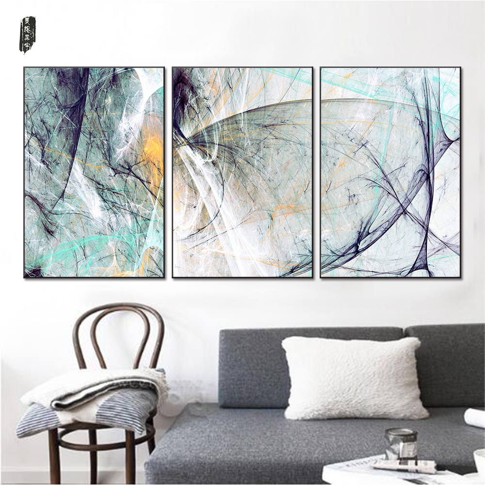 living room wall art מוצר landscape abstract canvas paintings modern wall 12894
