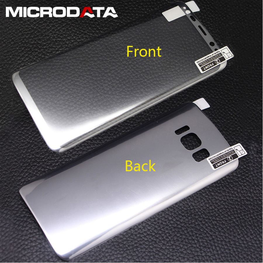 2pcs Front & Back 3D Full Cover Color Plating Screen Protector