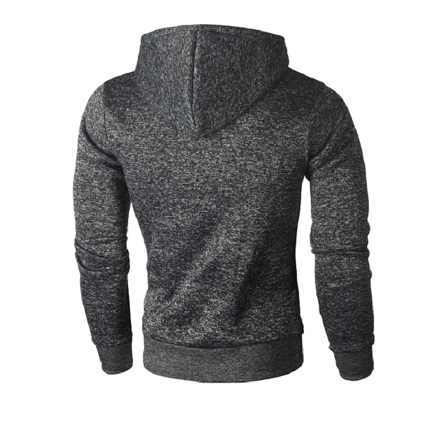 Men's Casual Winter Solid Hoodie