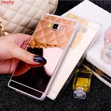 Nephy Lembut Cermin Case untuk Samsung Galaxy A3 A5 A7 2016 2017 A8 Plus 2018 Catatan 3 4 5 8 silikon TPU Cell Phone Mewah Penutup Belakang(China)