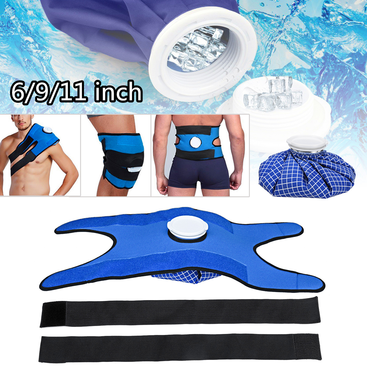 Pain Relief Hot Cold Therapy Reusable Ice Bag Pack Wrap for Knee Shoulder Back Shoulder Knee Waist Relaxing Compress Health Care