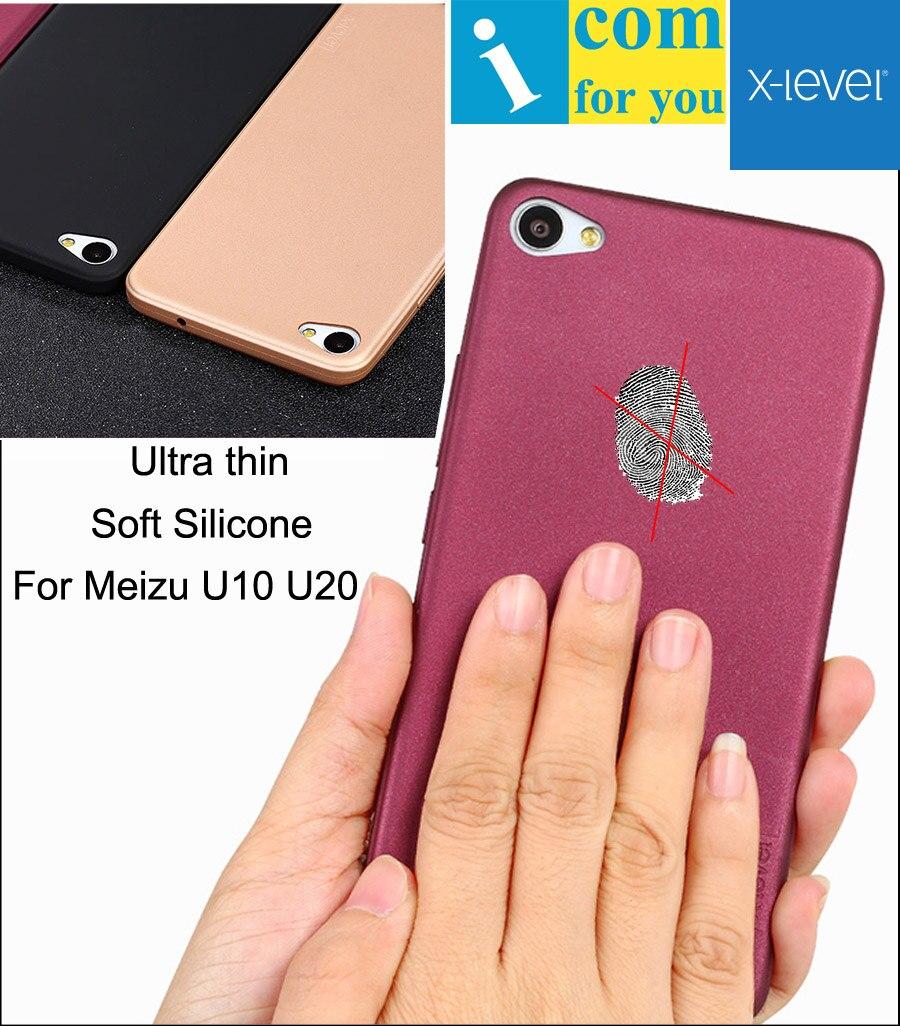 X-Level Guardian Soft Silicone Cover Case For Meizu U10 Ultra thin X Level TPU Protective Skin For Meizu U20