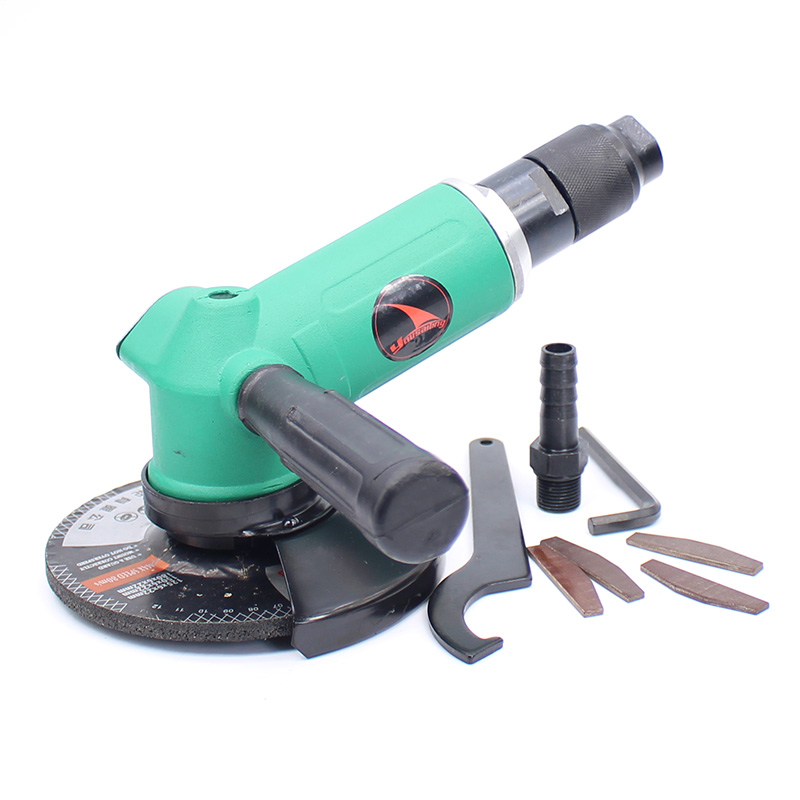 YOUSAILING Quality 5 Inches (125mm) Pneumatic Angle Grinder 110 Degree Air Grinder Machine Pneumatic Grinding Grinder Tool 125MM vibration type pneumatic sanding machine rectangle grinding machine sand vibration machine polishing machine 70x100mm