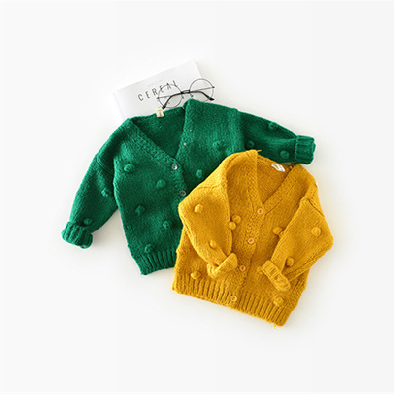 Bobo Choses Winter 2018 Tiny Cottons Girls Sweater Appliques Pull Enfant Fille Single Breasted Girls Cardigans Toddler Sweater girls single breasted raw hem skirt