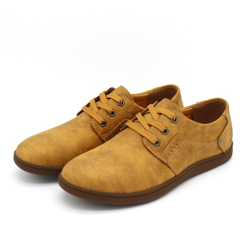 Cuir Angleterre Mode Qualité Appartements Confortable En yellow Casual Chaussures red Brown De Sneakers Pu Hommes Bimuduiyu Respirant Black khaki Marche Brown 4x0FdW1