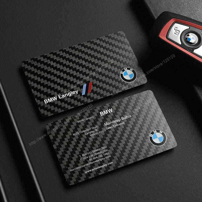 Carbon fiber business cards custom carbo