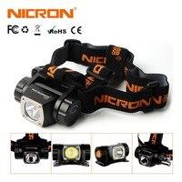 NICRON LED Headlight Brightness Head Lamp Flashlight 380LM 150M AAA Battery Headlamp Light Lamp Torch Aluminum