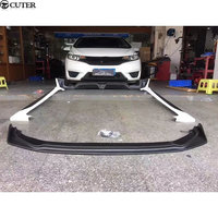 Car body kit ABS Upainted front rear bumper Side skirts for Honda Fit GK5 2014
