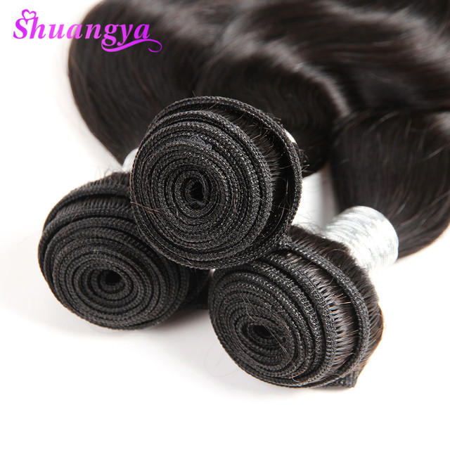 Peruvian Body Wave Hair Extension 100% Human Hair Weave Bundles Natural Color Remy Hair Weave 10″-28″ 100% Human Hair Shuangya
