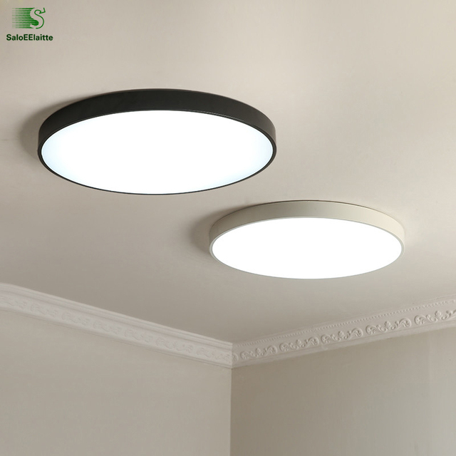 Nordic simple round metal led ceiling lights acrylic living room nordic simple round metal led ceiling lights acrylic living room dimmable led ceiling lamp bedroom led aloadofball Image collections