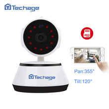 Techage 720P HD Audio Record Wifi CCTV Camera SD Card Onvif P2P Baby Monitor Built-in Mic Speaker Wireless Camera Motion Detect