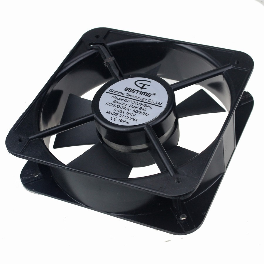 8PCS Gdstime 20CM 200*200*60 MM 20060 220V AC Double Ball Bearing Case Industrial Axial Fan 220v ac 280x280x80mm axial radiator fan 1341cfm 2400rpm ball bearing high speed