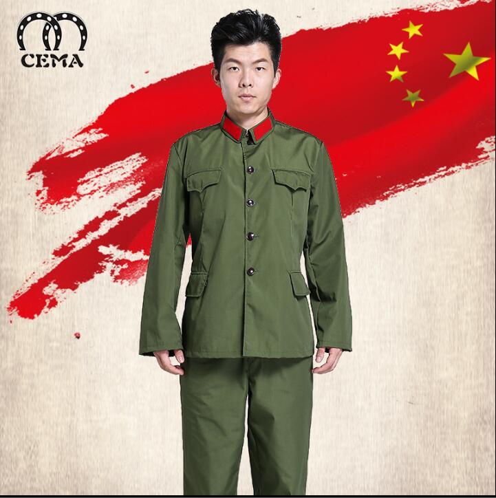 L'uniforme militaire Vintage de l'armée rouge chinoise