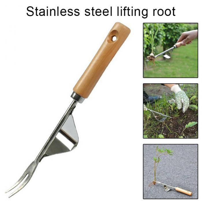 Garden Hand Weeder Gardening Tool with Wooden Handle for Garden Lawn Farmland
