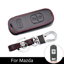 Genuine Car Key Leather Cases for American Mazda 3 CX3 CX5 CX7 CX9 Speed Keys Smart Covers Styling