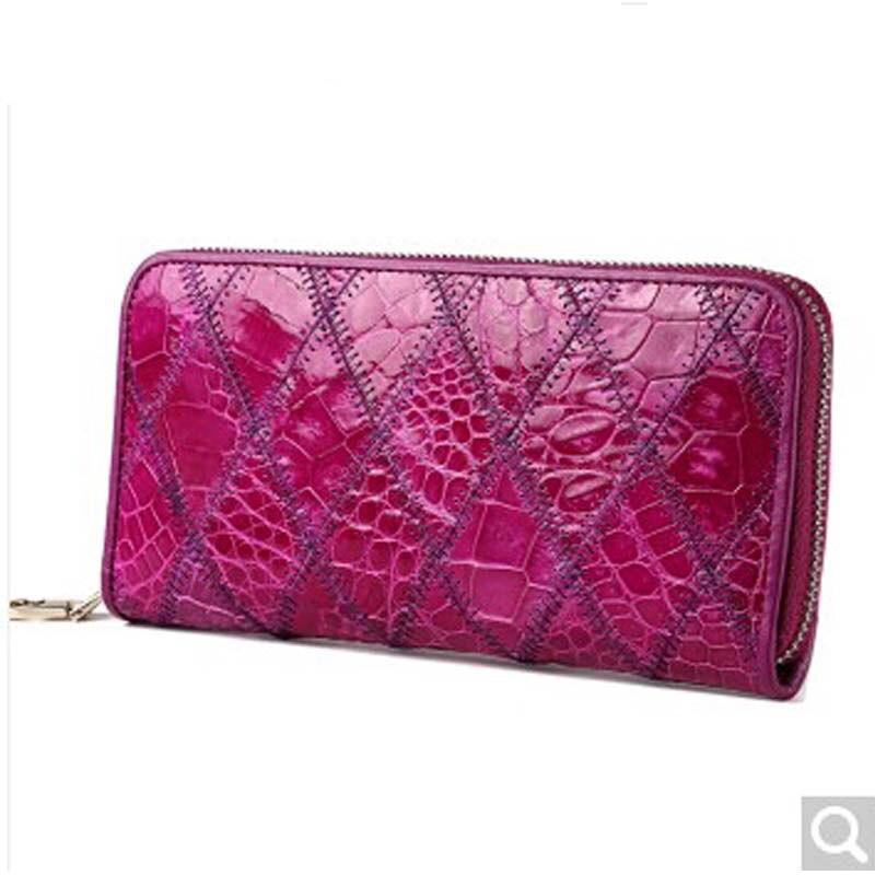 f4e01e86f53 Luodungongniu women clutch bag lady alligator leather wallet rhombus hand  grab bag Multi-card multi