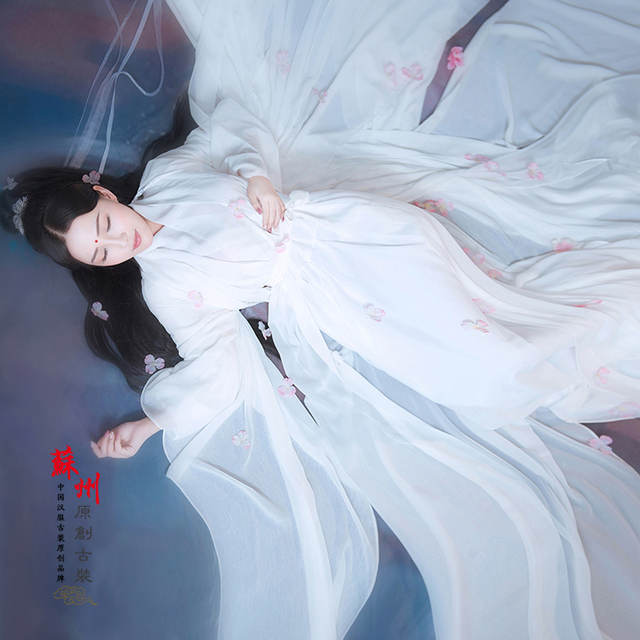 0e6d253f1 placeholder BaiQian Pure White Chiffon Fairy Costume Hanfu for Photography  or Stage Performance Peach Blossom Fairy Costume