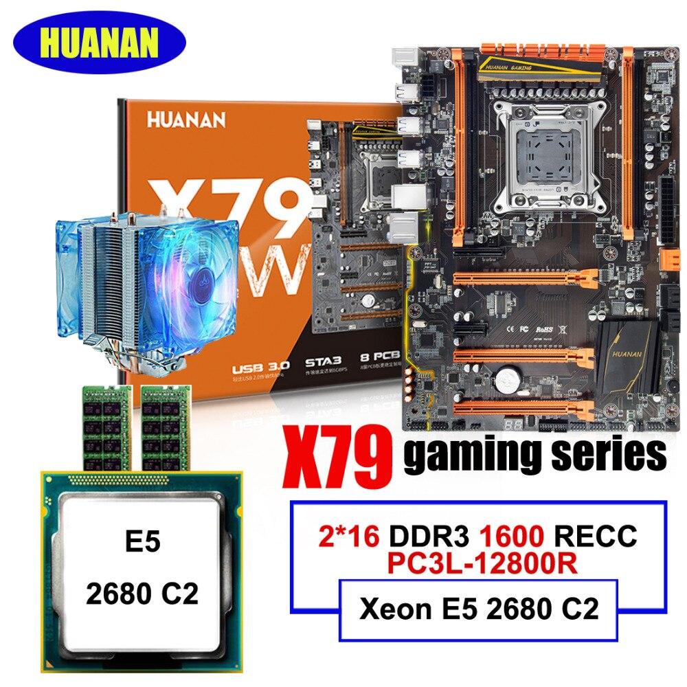 Nuovo di marca di arrivo nuovo HUANAN ZHI deluxe X79 LGA2011 scheda madre Intel Xeon E5 2680 C2 2.7 GHz RAM 32G (2*16G) DDR3 1600 MHz ECC REGNuovo di marca di arrivo nuovo HUANAN ZHI deluxe X79 LGA2011 scheda madre Intel Xeon E5 2680 C2 2.7 GHz RAM 32G (2*16G) DDR3 1600 MHz ECC REG