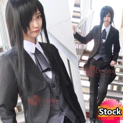 Anime! Kobayashi Dragon Maid Fafnir uniforme Costume Cosplay chemise + manteau à queue hirondelle + gilet + pantalon + noeud papillon livraison gratuite