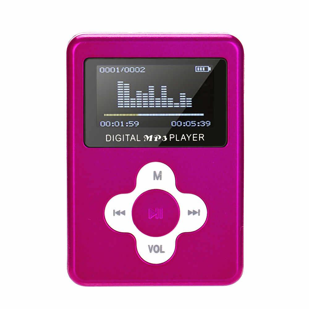 USB Mini MP3 reproductor de pantalla LCD de 32 GB Micro SD TF Card7.4GH