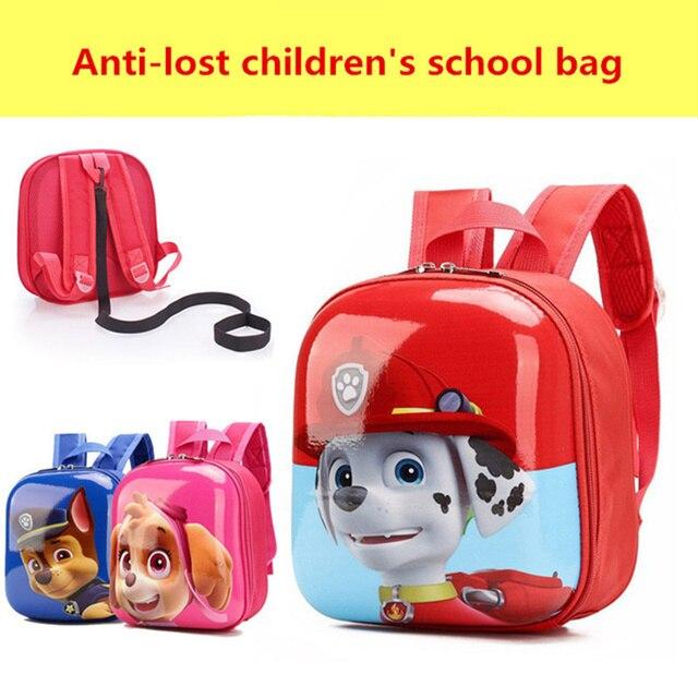 eb5166ce8777 2019 новые 3D сумки для девочек/мальчиков рюкзак дети щенок мультфильм  школьные сумки для студентов
