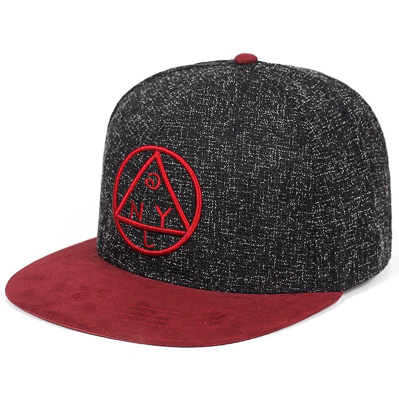 Calidad del casquillo del Snapback de NYL triángulo redondo bordado marca  plana gorra de béisbol de ala de la Juventud de hip hop gorra y sombrero  para ... eab975e6b0e