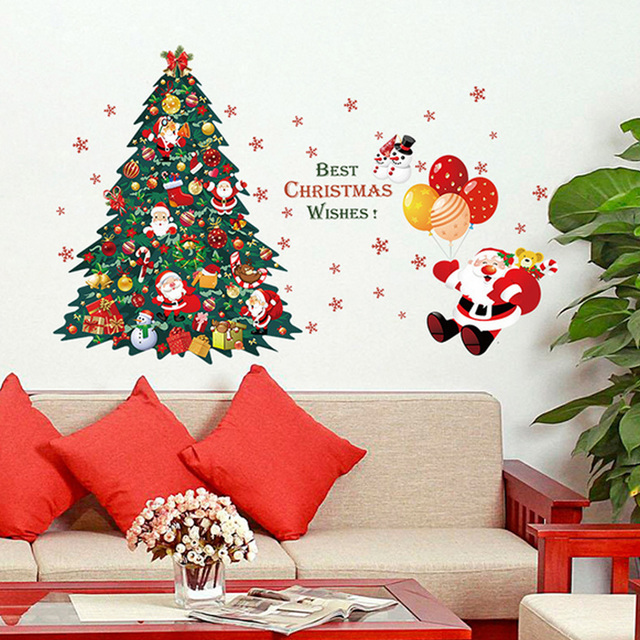 Aliexpresscom Buy Top Sale Christmas Wall Stickers Large - Christmas wall decals removable