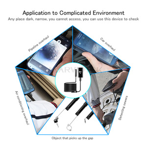 Image 5 - 720p endoscópio câmera wifi 9mm android endoscópio hd iphone câmera de inspeção endoscópio 1/3.5/5m metal usb câmeras endoscópio wi fi