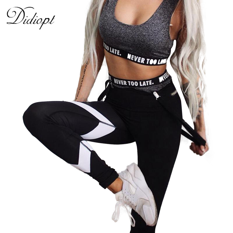 Didiopt Yoga Leggings Running Compression Pants Women Fitness Sports Leggings Trousers Sportwear Vansydical Ropa DeportivaP1619Y