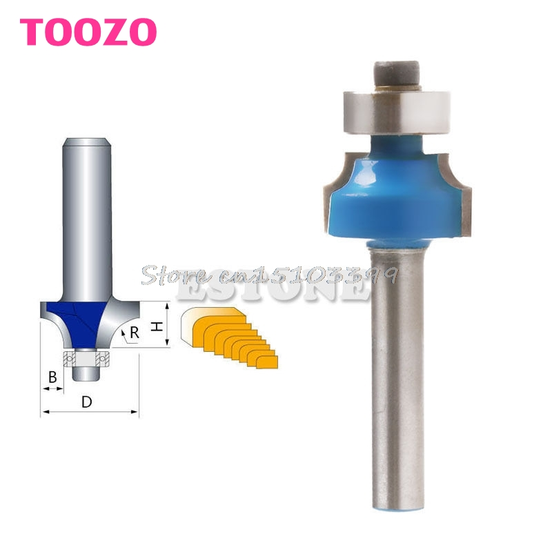 1/4 Shank 1/4 Radius Round Over Router Bit Woodworking Chisel Cutter Tool #G205M# Best Quality 2pcs 1 2 shank router bit set 120degree woodworking groove chisel cutter tool g205m best quality