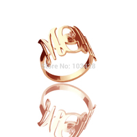 AILIN Mothers Gift Personal Rings Rose Gold Color Over 925 Silver Mom With Birthstone Mom's Gift Mom Birthday Gift Unique Gift