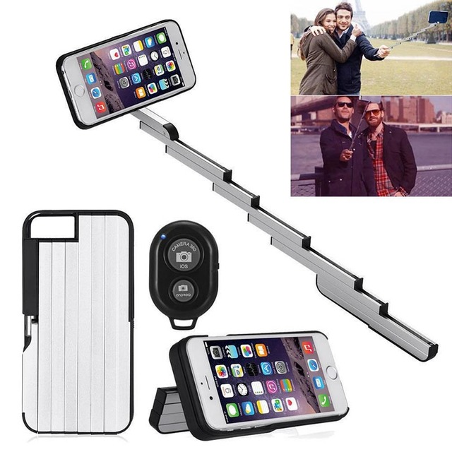 best website b96d4 44976 US $18.5 |for iphone 8 StikBox Selfie Stick Aluminum Extendable Phone Case  for for iphone 6 6s 7 8 plus Bluetooth Remote Controller-in Fitted Cases ...