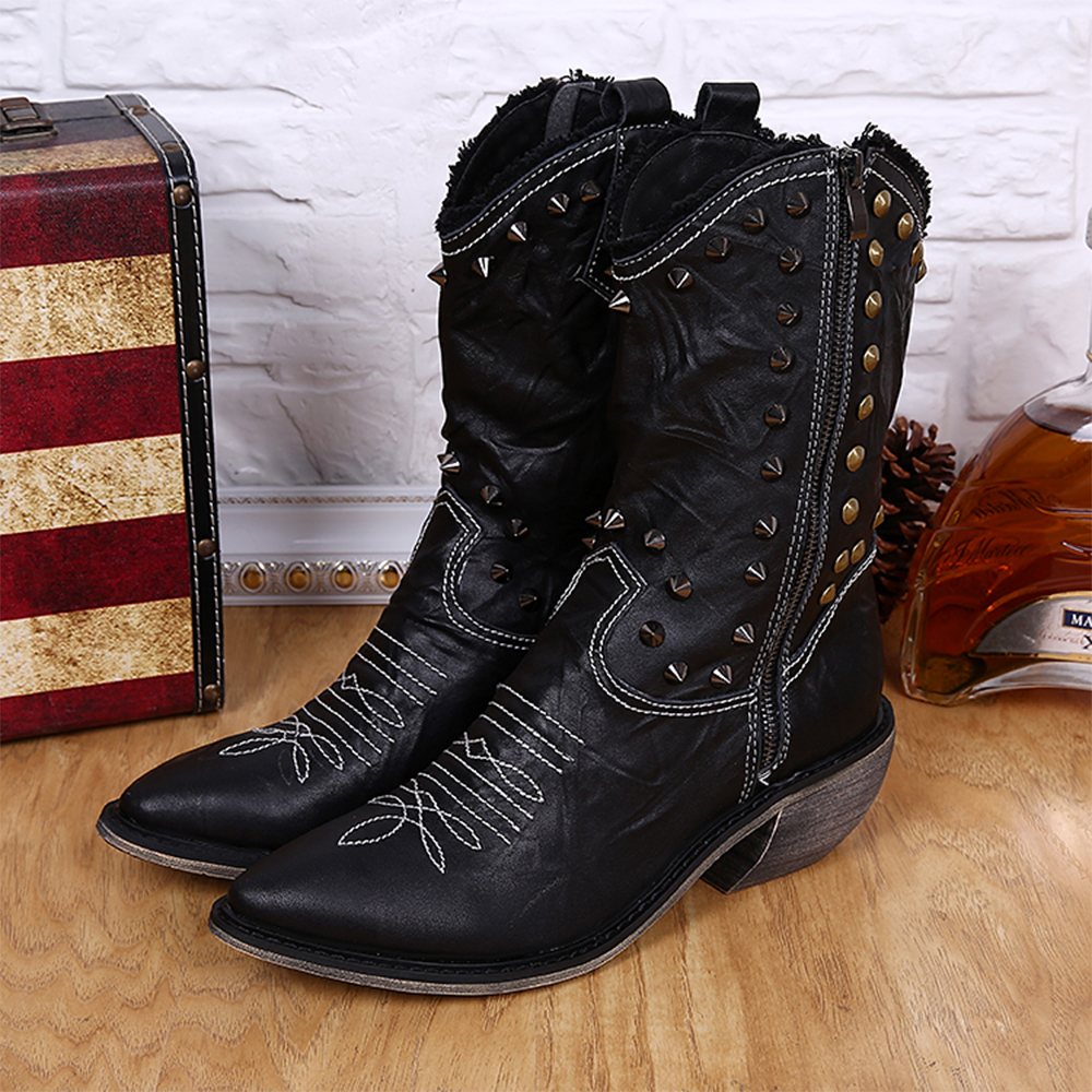 Popular Zipper Cowboy Boots for Men-Buy Cheap Zipper Cowboy Boots ...