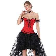 0fe0774e8e GLORY Victorian Burlesque Slimming Sexy Corset Dress steampunk Vintage Red  Overbust