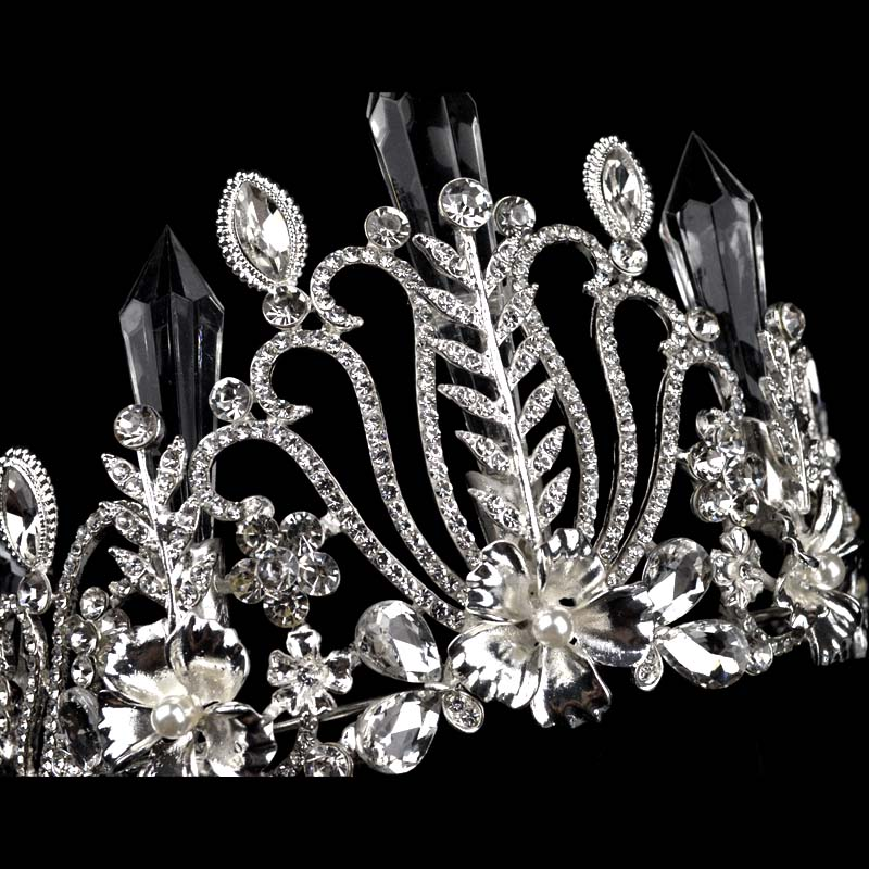 New Sparkling Silver Crystal Crown For Wedding Tiara de noiva Bride Wedding Headdress Tiara Crown For Women T-061