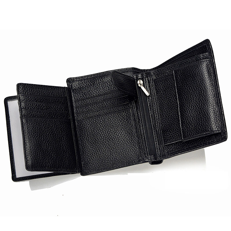 LACHIOUR RFID-blockering män äkta läder plånböcker koppling - Plånböcker - Foto 3
