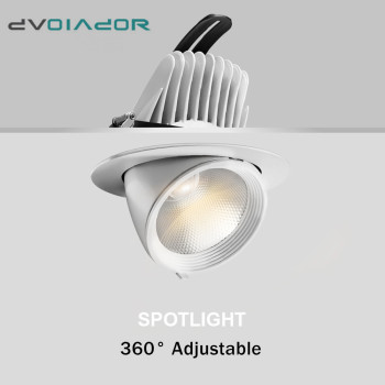 Dimmable Led downlight light 7W 10W 20W Recessed led light 360 degree rotatable Ceiling Spot Light ceiling recessed Lights triac dimmable 0 10v dimmable dali dimmable 130lm w 50w gimbal downlight 360 degree recessed ceiling led lights 12pcs lot