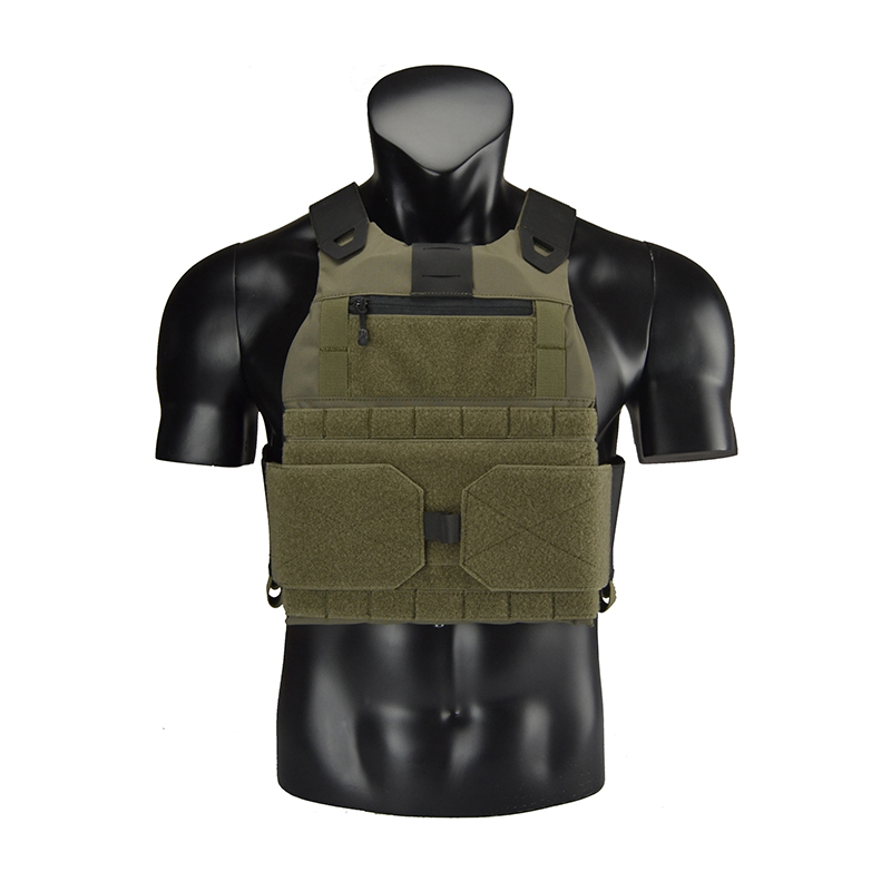 Delustered Low Profile Plate Carrier Bullet Proof Vest Ranger Green Airsoft CQB CQC Wargame Military Hunting