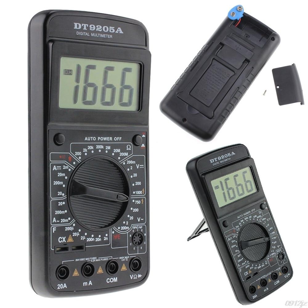 DT9205A Digital Multimeter AC/DC Voltmeter Ammeter Resistance Capacitance Meter Tester Tools mastech my65 digital multimeter dmm ac dc voltmeter ammeter ohmmeter w capacitance frequency