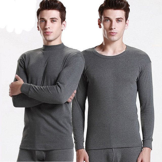 2019 New Thermal Underwear Sets For Men Long Johns Winter Warm 100% Cotton Thermo Shirt+Pants 2 Piece Suit Plus Size M-XXXL(China)