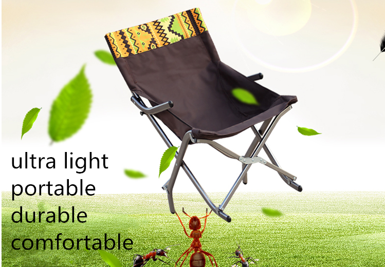 FREE  SHIPPING Outdoor Ultra-light Aluminum Alloy Folding  Home Portable Lunch Chair  Reclining Fishing Leisure Chair горка ching ching горошина