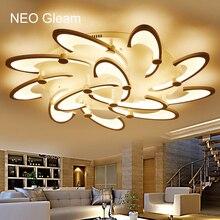 NEO Brillo Redondo Blanco LLEVÓ la lámpara de Techo Para El Hogar Dormitorio Sala de estar Moderna AC85-265V Led Del Techo de La Lámpara Fixture