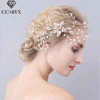 CC Jewelry Romantic Hair Combs Wedding Hair Accessories For Women Party Tiara Handmade Hair Ornaments Bride