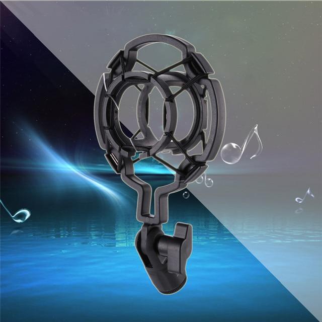 Professional Universal 3KG Bearable Load Mic Microphone Shock Mount Clip Holder Stand Radio Studio Sound Recording Bracket Black