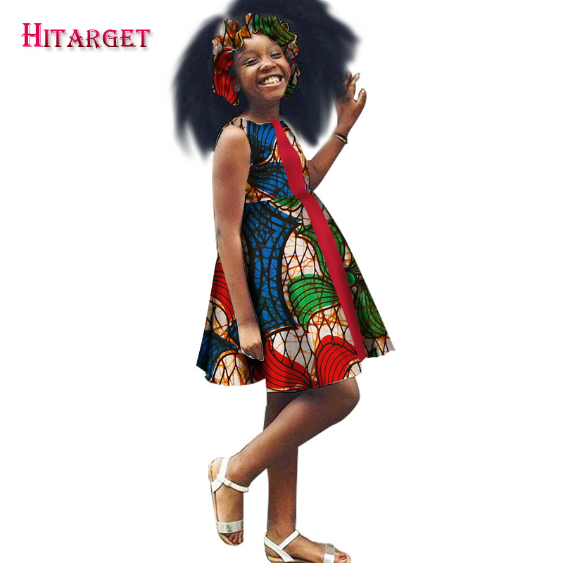 African American Girls Fashion: New Girls African Dresses Vestidos Fift Kanga Clothing