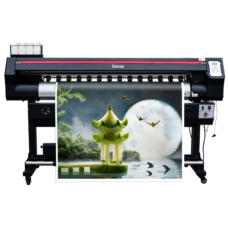 Vinyl Graphic Banner Printer Printing Machine 1600mm Wide Format Printer Eco Solvent Made In China XP600 Plotter