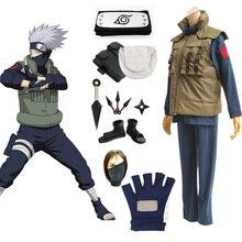 Аниме Наруто; костюмы для косплея; Shippuden Hatake kakahi; роскошный комплект одежды с обувью; оружие для Хэллоуина; вечерние костюмы