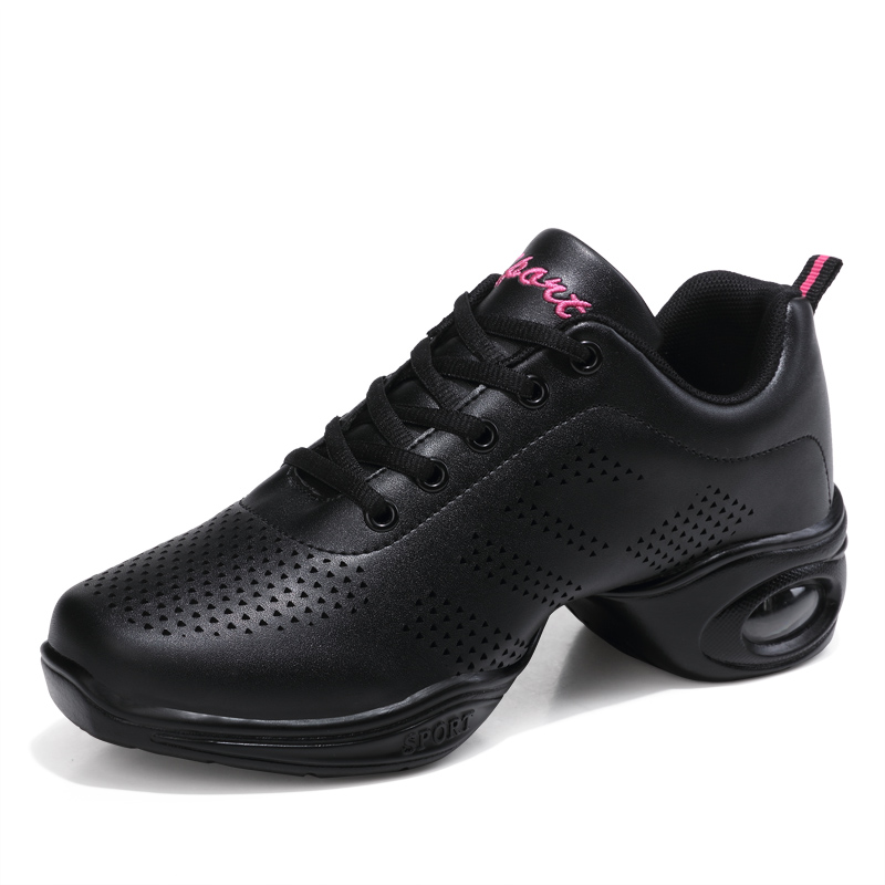 2019 New Soft Outsole Breath Dance Shoes Women Sports Feature Dance Sneakers Jazz Hip Hop Shoes Woman Dancing Shoes Size 34-41